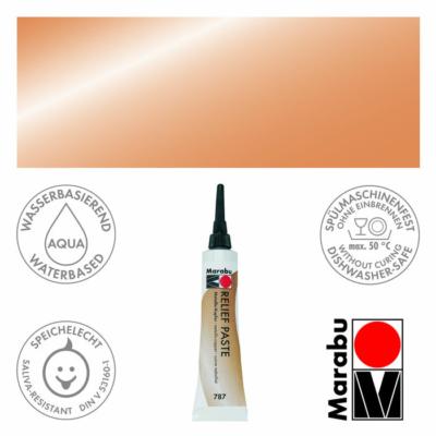 Marabu Relief Paste - Üvegkontúrozó 20ml - Metallic-Copper - 787