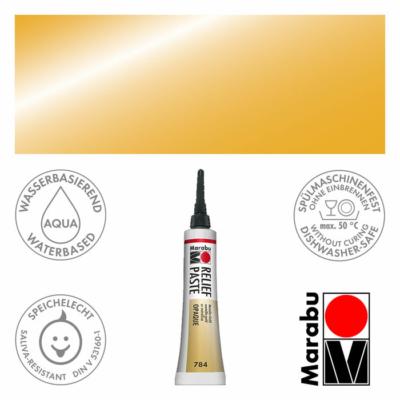 Marabu Relief Paste - Üvegkontúrozó 20ml - Metallic-Gold - 784