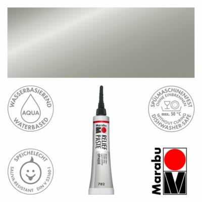 Marabu Relief Paste - Üvegkontúrozó 20ml - Metallic-Silver - 782
