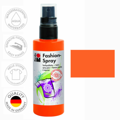 Marabu Fashion Spray - Textilfesték Spray - Red Orange - 023
