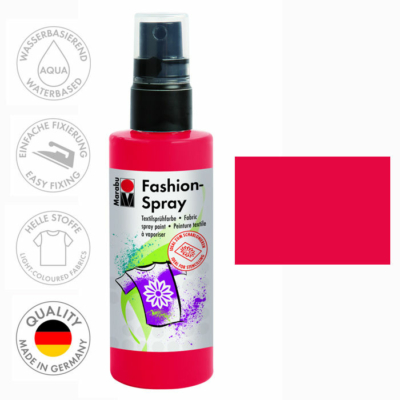 Marabu Fashion Spray - Textilfesték Spray - Red - 232