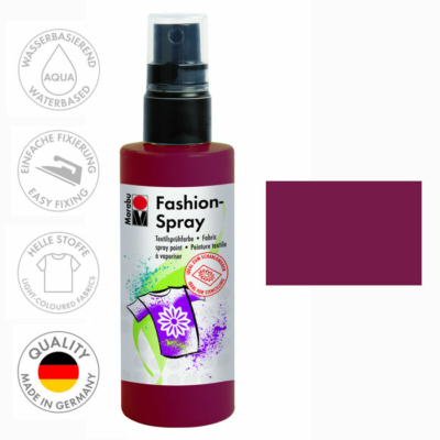 Marabu Fashion Spray - Textilfesték Spray - Bordeaux - 034