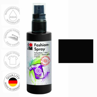 Marabu Fashion Spray - Textilfesték Spray - Black - 073