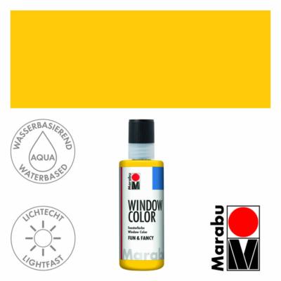 Marabu Window Color Fun & Fancy – Üvegmatrica festék - Yellow - 019