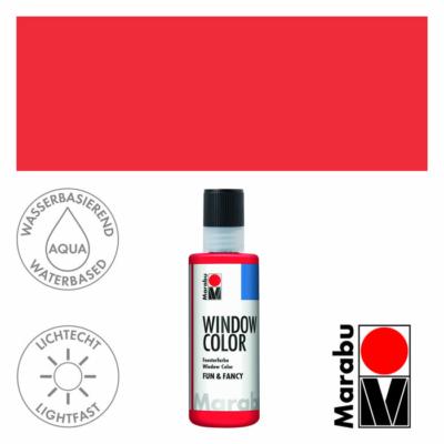 Marabu Window Color Fun & Fancy – Üvegmatrica festék - Cherry Red - 031