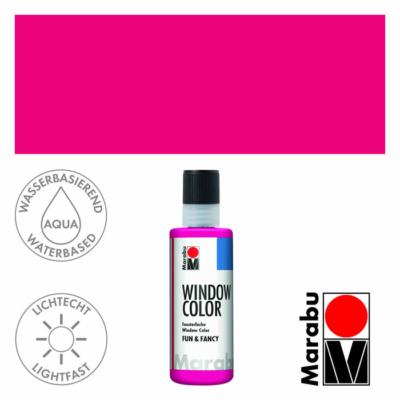 Marabu Window Color Fun & Fancy – Üvegmatrica festék - Raspberry - 005