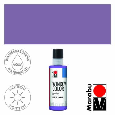 Marabu Window Color Fun & Fancy – Üvegmatrica festék - Lavander - 007