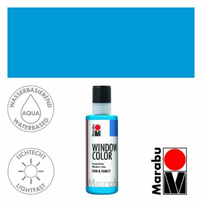 Marabu Window Color Fun & Fancy – Üvegmatrica festék - Azure Blue - 095