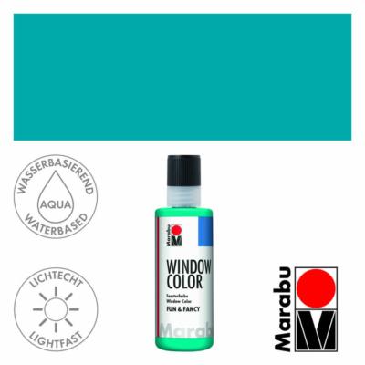 Marabu Window Color Fun & Fancy – Üvegmatrica festék - Turquoise - 098