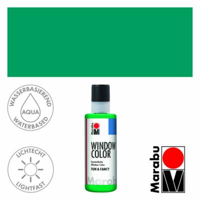 Marabu Window Color Fun & Fancy – Üvegmatrica festék - Rich Green - 067