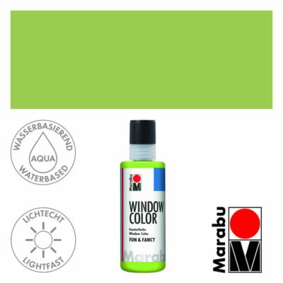 Marabu Window Color Fun & Fancy – Üvegmatrica festék - Reseda - 061