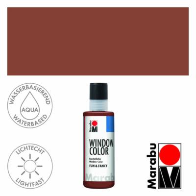 Marabu Window Color Fun & Fancy – Üvegmatrica festék - Medium Brown - 040