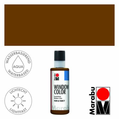 Marabu Window Color Fun & Fancy – Üvegmatrica festék - Dark Brown - 045