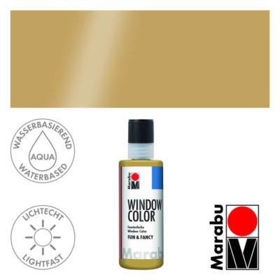 Marabu Window Color Fun & Fancy – Üvegmatrica festék - Kontúrozó- Outline Gold - 084