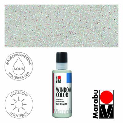 Marabu Window Color Fun & Fancy – Üvegmatrica festék - Glitter-Ice - 589