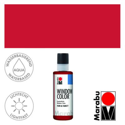 Marabu Window Color Fun & Fancy – Üvegmatrica festék - Coral Red - 036