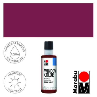 Marabu Window Color Fun & Fancy – Üvegmatrica festék - Bordeaux - 034