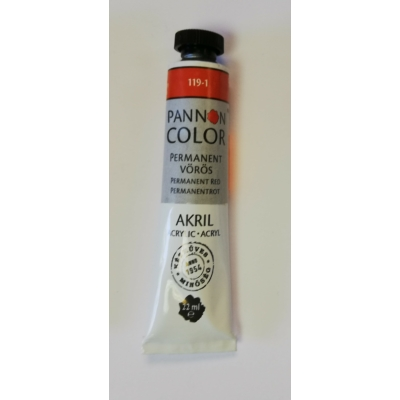 Pannoncolor Akril festék 22ml - Permanent vörös