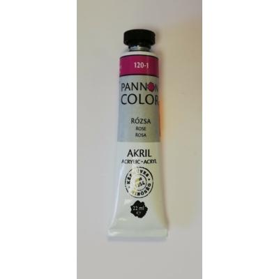 Pannoncolor Akril festék 22ml - Rózsa