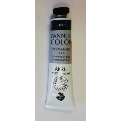 Pannoncolor Akril festék 22ml - Permanent kék
