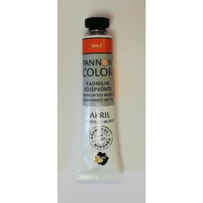 Pannoncolor Akril festék 22ml - Kadmium középvörös