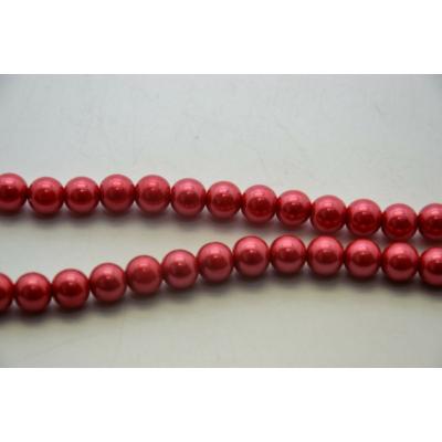 Viaszgyöngy, piros 6mm
