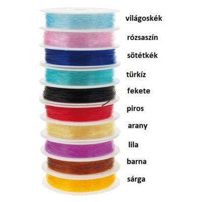 Magig string színes gumis damil, 0,8mm, barna