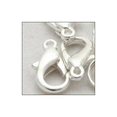 Delfin zár karikával, ezüst 10mm