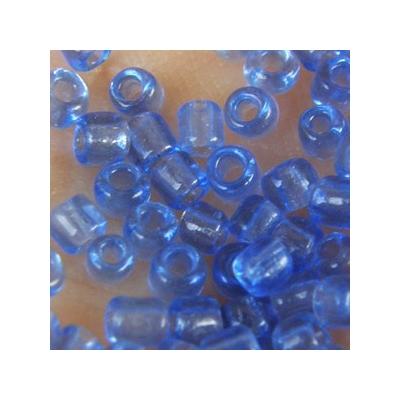 Transzparens antik kék kásagyöngy, 4mm