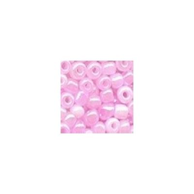 Ceyloni rózsaszín kásagyöngy, 4mm