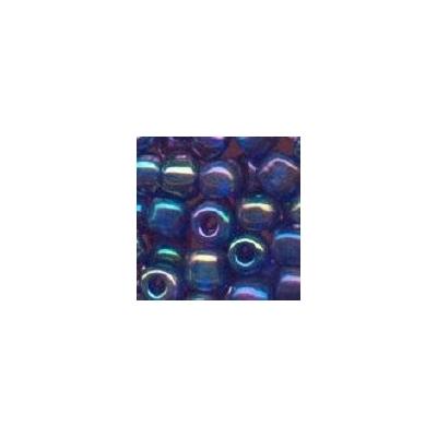 Sivárványos sötétkék kásagyöngy, 4mm