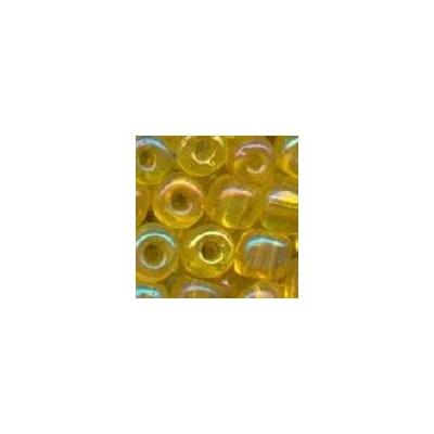 Sivárványos sárga kásagyöngy, 4mm