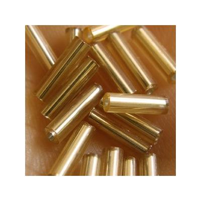 Ezüstközepű arany szalmagyöngy, 7mm