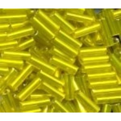 Ezüstközepű sárga szalmagyöngy, 7mm
