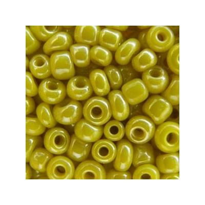 Opak lüszteres sárga kásagyöngy, 2mm