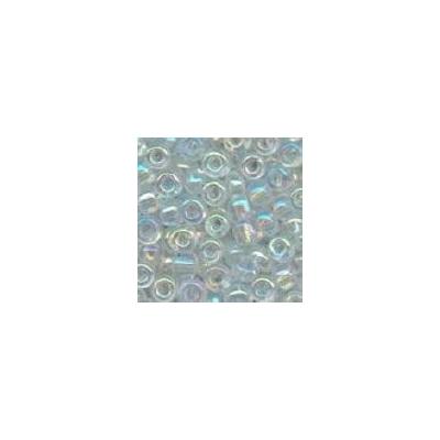 Sivárványos színtelen kásagyöngy, 2mm