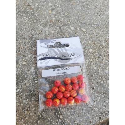 Malachit gyöngy - Narancs