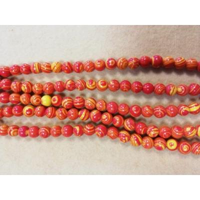 Malachit gyöngy szálon - Narancs