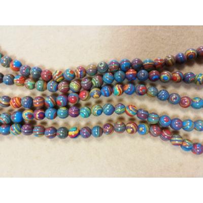 Malachit gyöngy szálon - Szivárvány színű