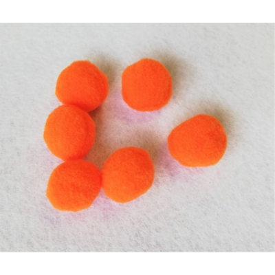 Pompom, 20mm-es narancssárga