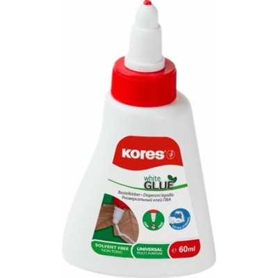 "Hobbyragasztó, 60 ml, KORES ""White Glue"""